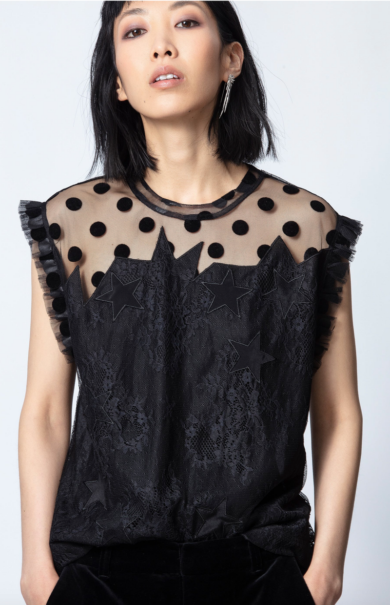 Zadig & Voltaire Tetro Lace Top | 4sisters1closet