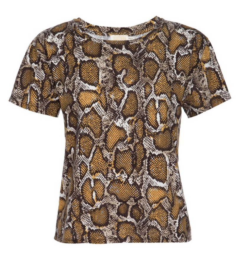 Nation Marie Boxy Tee in Python | 4sisters1closet