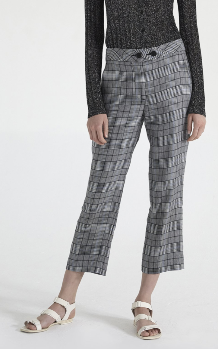 ei8htdreams Linen Plaid Crop Trouser | 4sisters1closet