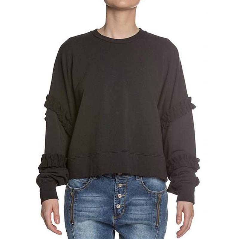 Sen Ephiphany Sweatshirt with Ruffled Sleeve