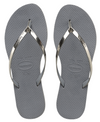 You Metallic Sandal Steel Grey | Shoes  | Havaianas | 4sisters1closet