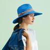 Giovannio Hat Blue Wide Brim | 4sisters1closet