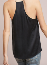 CAMI The Racer Charmeuse in Black