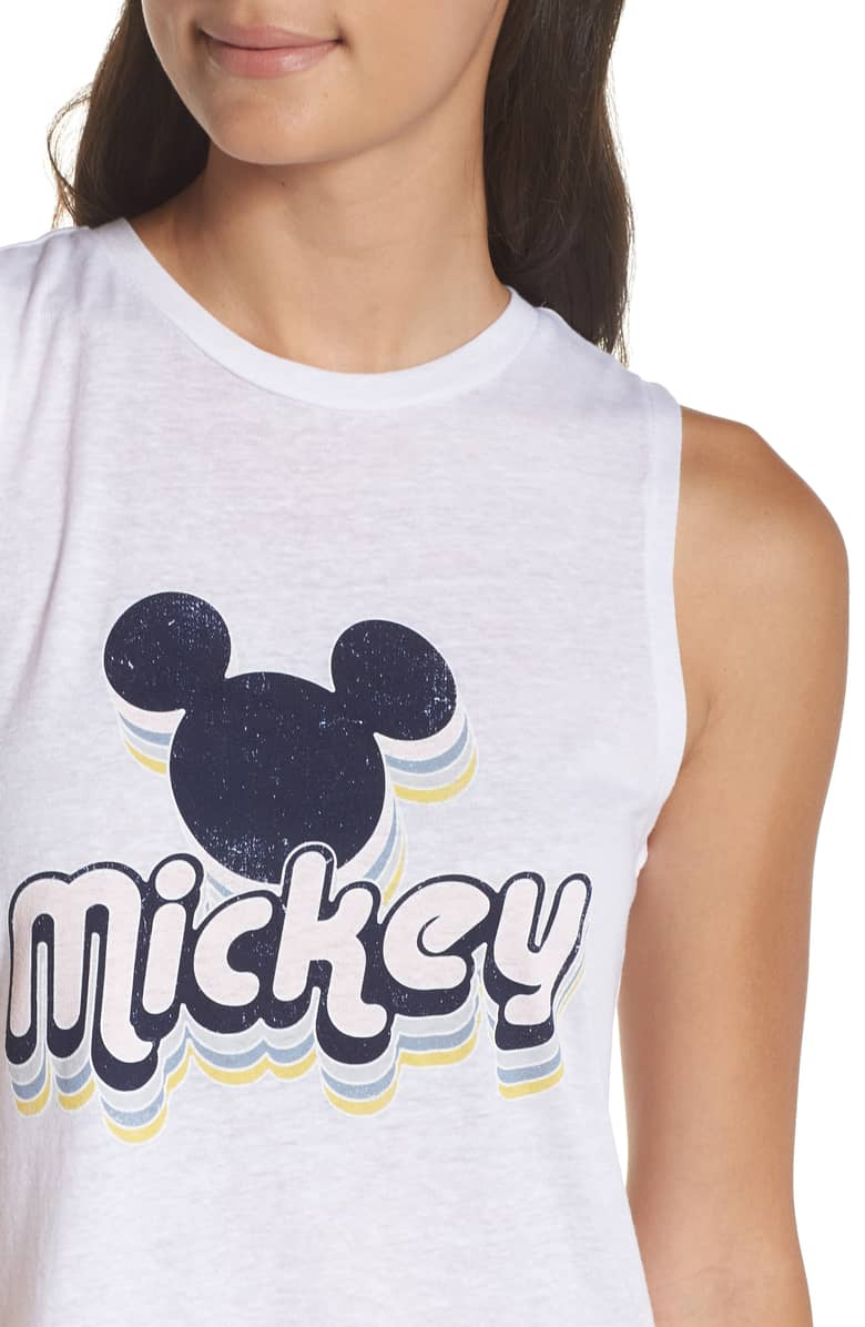 David Lerner Mickey High Low Muscle Tank