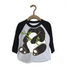 Peek-a-Zoo  Panda Educational Raglan in White/Black