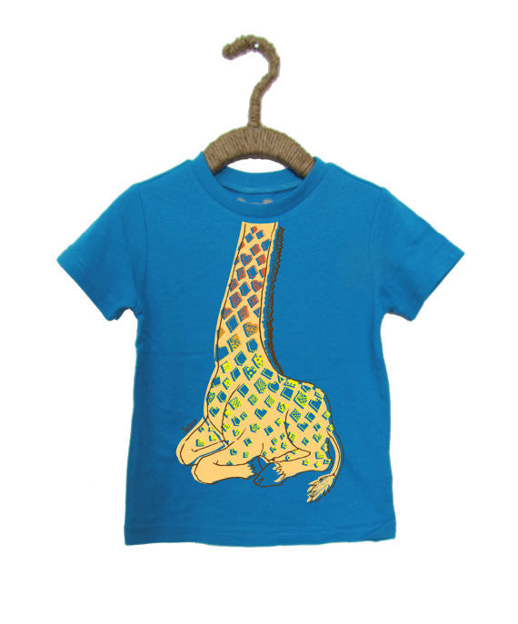 Peek-a-Zoo Lazy Giraffe in Heather Turquoise