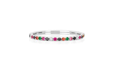 EF Collection Rainbow Collection in White Gold
