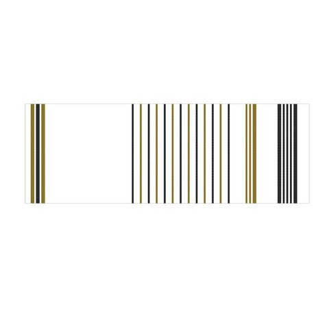 Yarnz Lurex Stripe Scarf in Gold