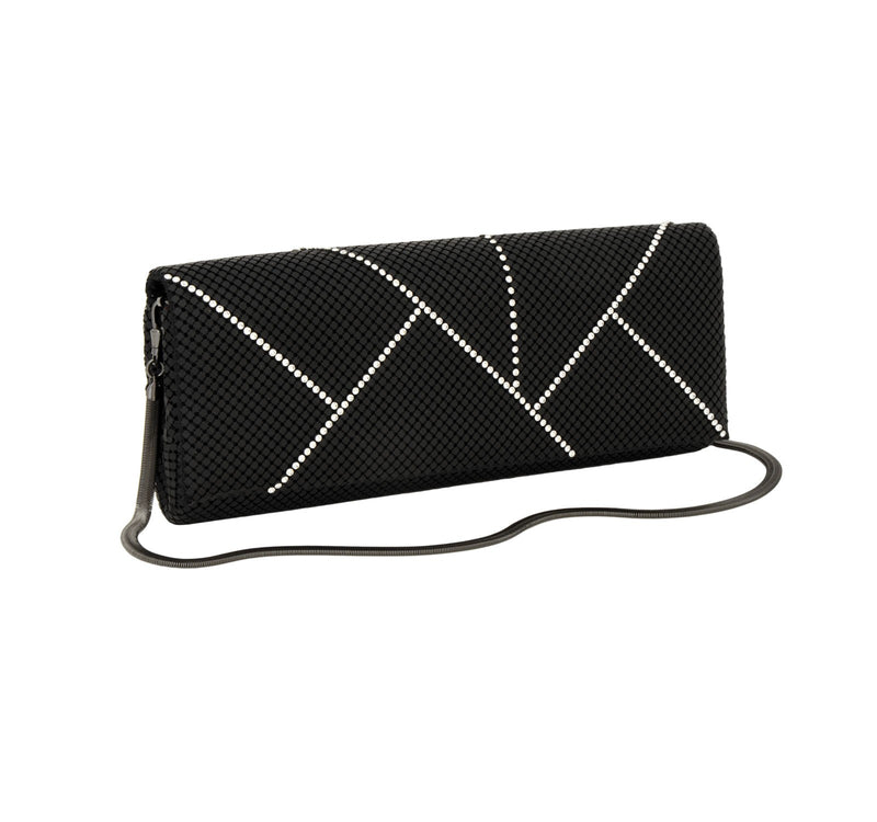 Crystal Segments in Matte Black | Purses | Whiting & Davis | 4sisters1closet
