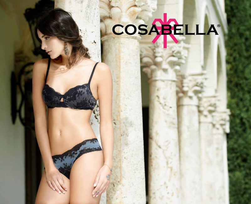 Cosabella Italia LR Thong in Black -Anthracite
