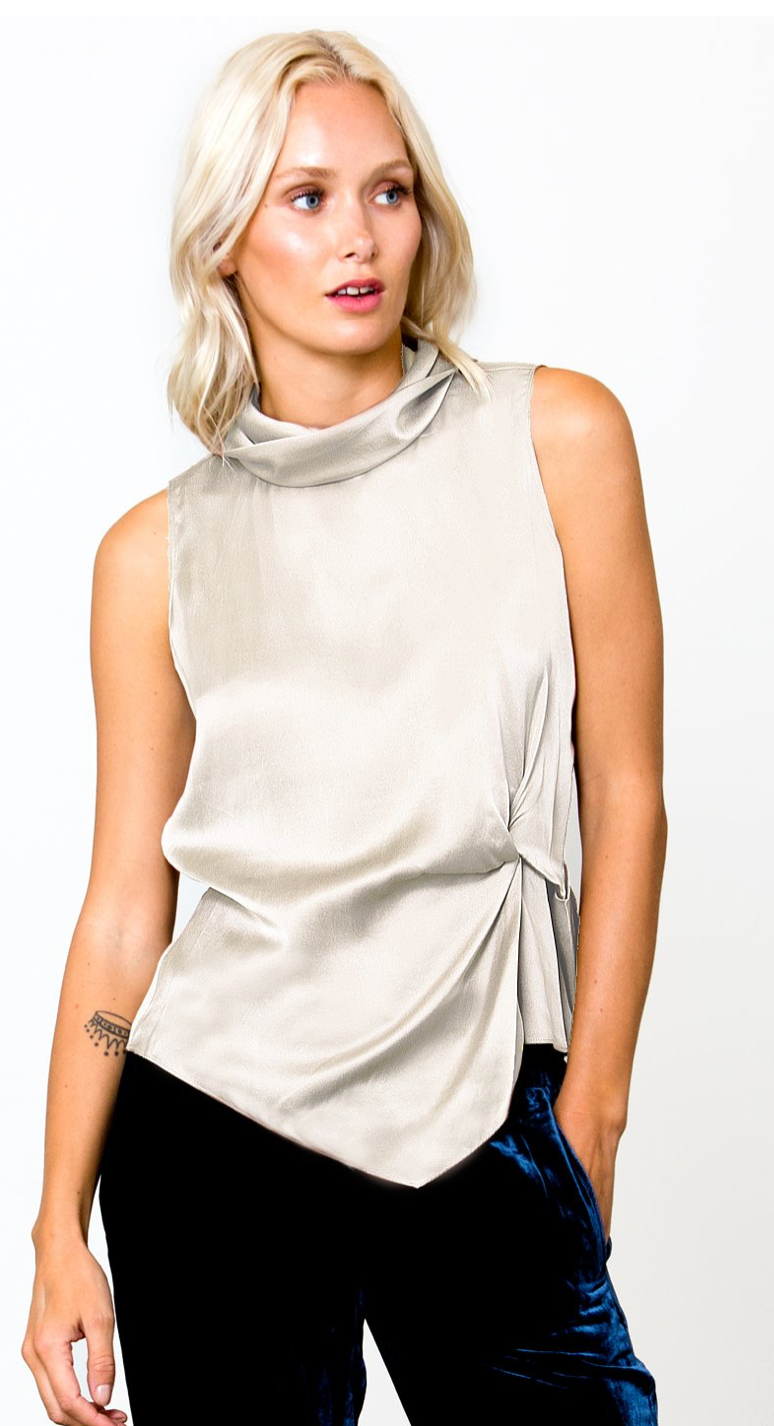 Go Silk go twist top in white | 4sisters1coset