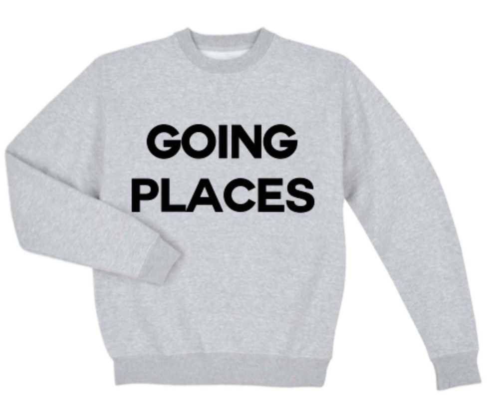 DEPARTURE Going Places Crew Neck Sweatshirt