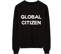 Graphic unisex Global Citizen crew neck sweatshirt. SUPER SOFT 80% COTTON 20% POLYESTER ONLY AVAILABLE IN SIZE SMALL! Sold by 4sisters1closet.