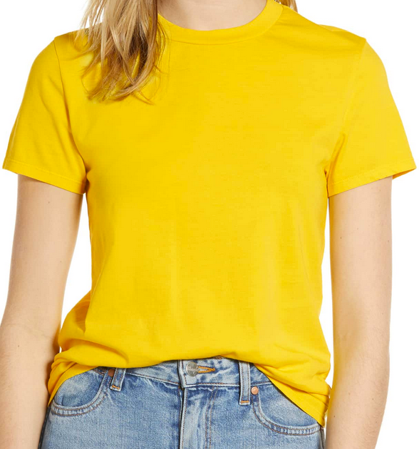 Pam & Gela Basic Tee in Sunflower | 4sisters1closet