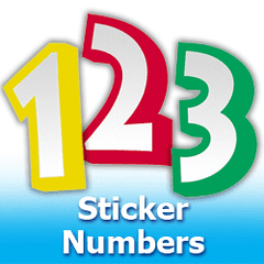 Sticker Numbers Foil Mylar Balloons