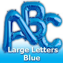 Large Letters - Blue Foil Mylar Balloons