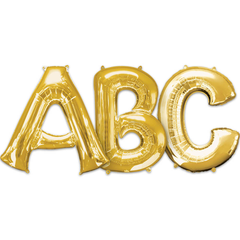 Large Letters - Gold Foil Mylar Balloons
