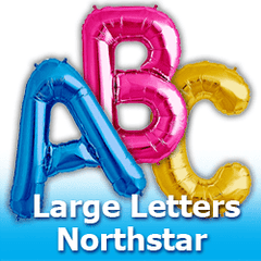 34 inch Northstar Letters Foil Mylar Balloons
