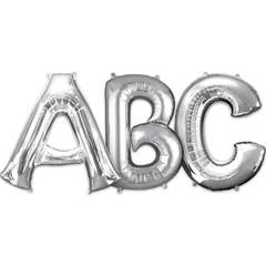 Large Letters - Silver Balloons