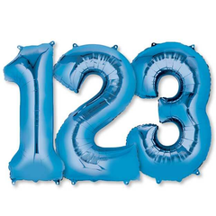 Large Numbers - Blue Foil Mylar Balloons