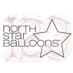 34 inch Northstar Numbers Foil Mylar Balloons