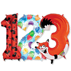 Large Numbers - Printed Foil Mylar Balloons