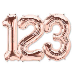Large Numbers - Rose Gold Foil Mylar Balloons