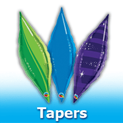 Tapers Foil Mylar Balloons