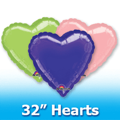 "32"" Hearts - Solid Colors Balloons"