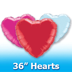 "36"" Hearts - Solid Colors Balloons"