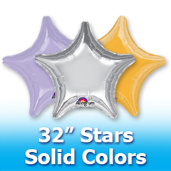"32"" Stars - Solid Colors"