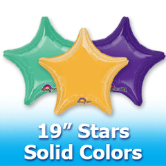 "19"" Stars - Solid Colors Foil Mylar Balloons"
