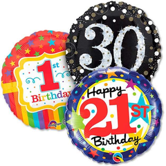 Birthday Age Related Balloons