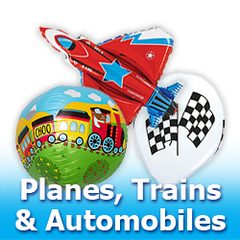 Planes, Trains & Automobiles Balloons