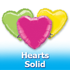 "18"" Hearts - Solid Colors Foil Mylar Balloons"