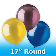 "17"" - Round  Latex Balloons"
