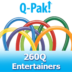 Qualatex 260Q - Entertainer Q-Paks Latex Balloons