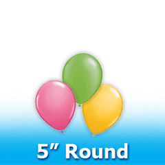 "5"" - Round  Latex Balloons"