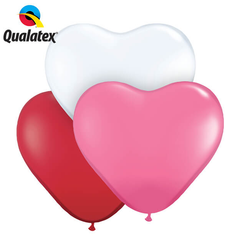 Qualatex Hearts Latex Balloons