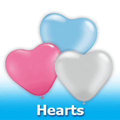 Hearts Latex Balloons