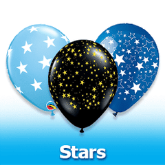 Stars Latex Balloons