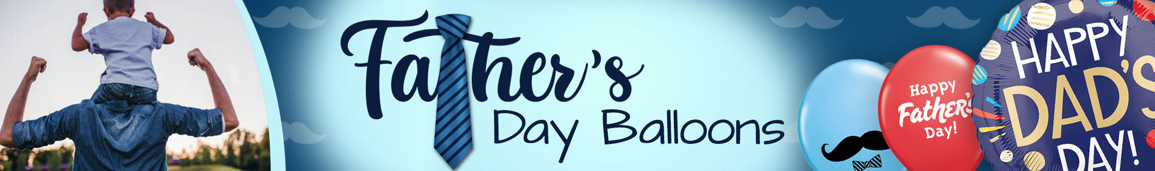 LA Balloons Father's Day Balloons Banner