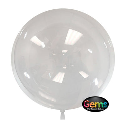 18″ GEMS BALLOON - CLEAR (5 PK)