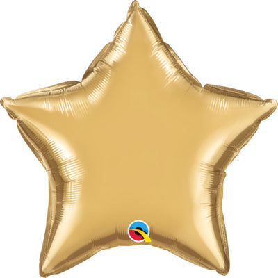 20″ STAR - CHROME GOLD