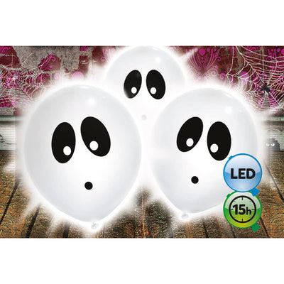 9″ GHOST LED LIGHT UP BALLOON (3 PK)