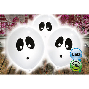 9″ GHOST LED LIGHT UP BALLOON (3PK)