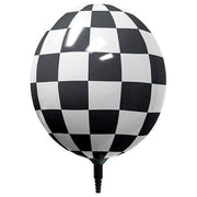 "Balloon GIZMO 17"" GIZMO BLACK & WHITE CHECKERED 35109-M"
