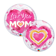 22″ BUBBLE - LOVE YOU M(HEART)M PINK