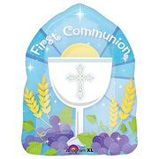 18″ BLESSED 1ST COMMUNION BLUE