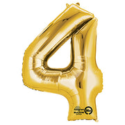 34″ NUMBER 4 - ANAGRAM - GOLD